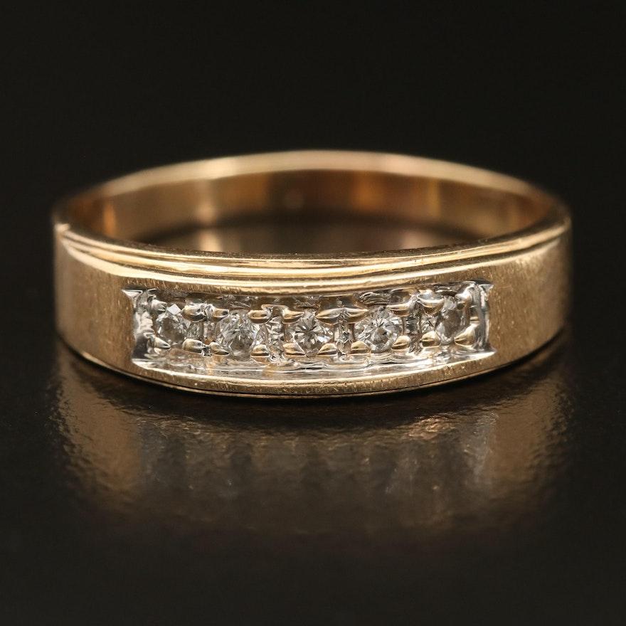 14K 0.18 CTW Diamond Five Stone Band