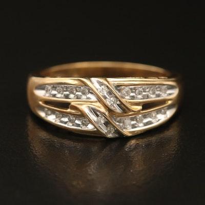 10K 0.10 CTW Diamond Ring