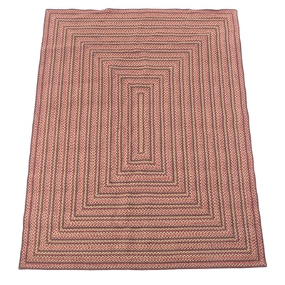 7'5 x 9'5 Handmade Braided Wool Area Rug