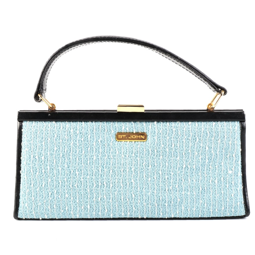 St. John Tweed and Leather Handbag