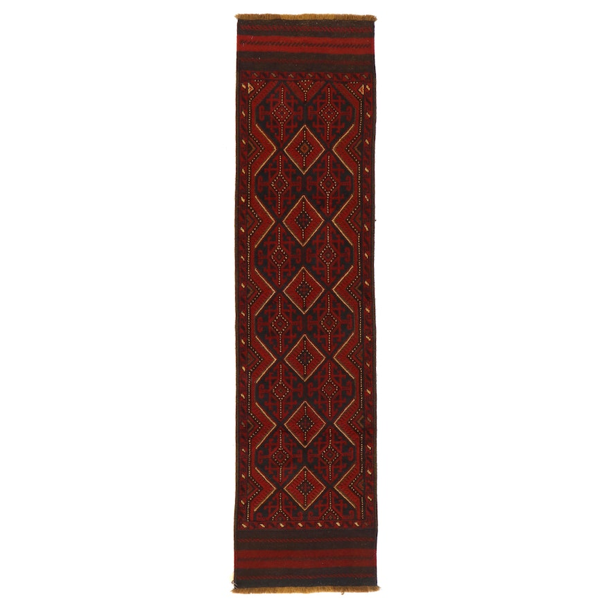 2' x 8'2 Hand-Knotted Afghan Baluch Carpet Runner
