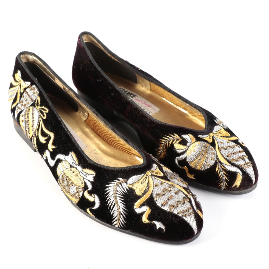 Frankie and Baby by Beverly Feldman Ornament Embroidered and Beaded Flats