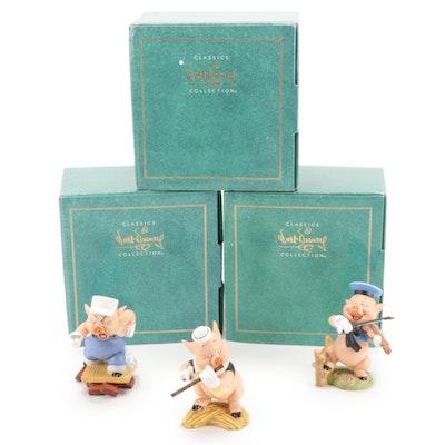 "Walt Disney Classics Collection ""Three Little Pigs"" Ceramic Figurines"