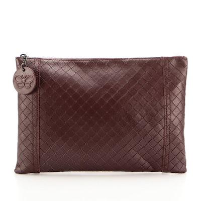 Bottega Veneta Zip Pouch in Intrecciomirage Leather
