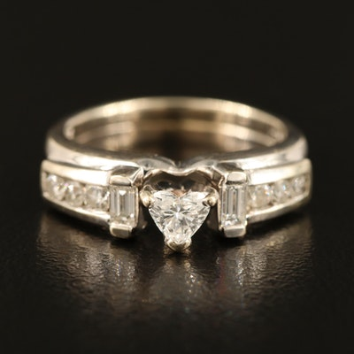 14K 0.74 CTW Diamond Heart Ring
