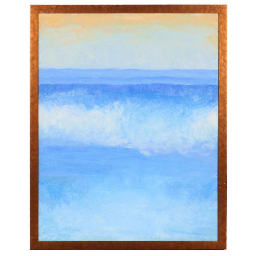 Seascape Acrylic Painting, Circa 2000