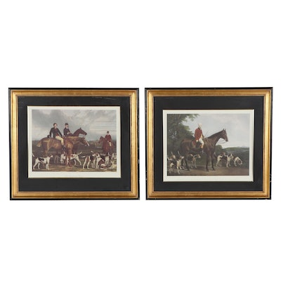 Offset Lithographs After James Scott and C.G. Lewis of Hunting Scenes