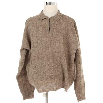 Pendleton Sweater in Shetland Wool with Quarter Zip