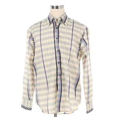 Men's Robert Graham Embroidered Cotton Dress Shirt