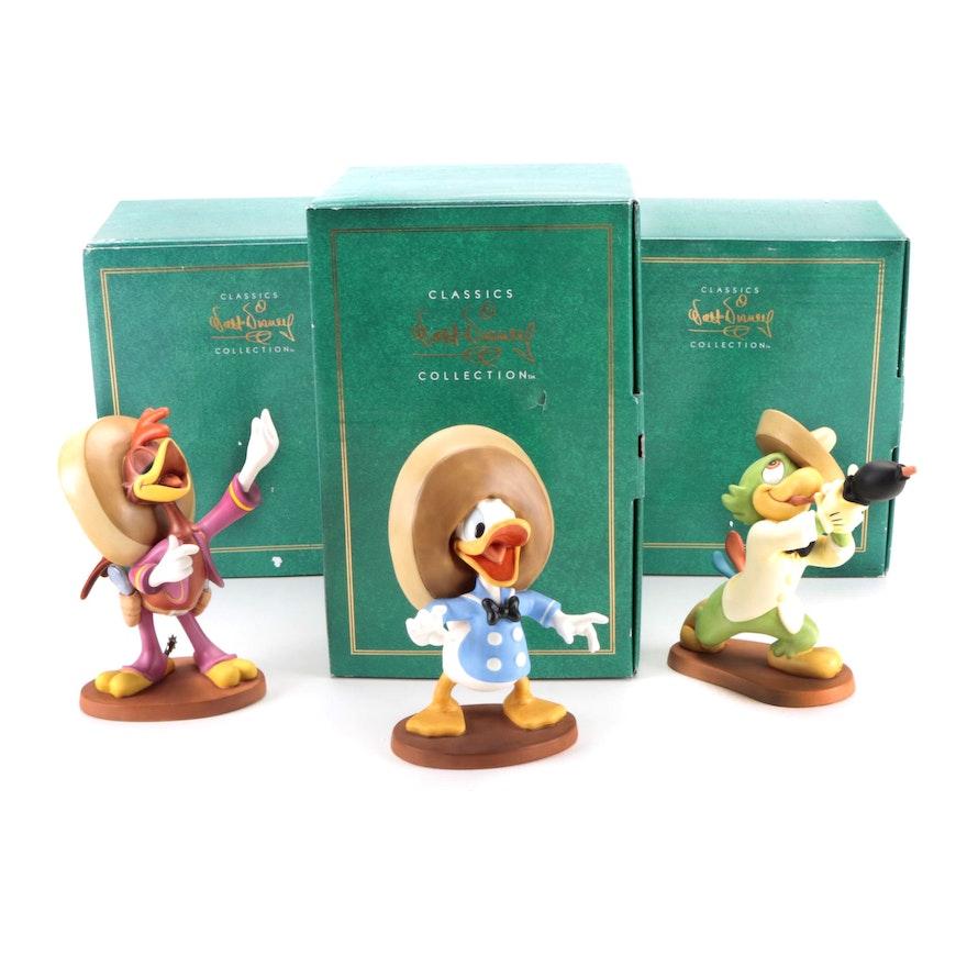 """Walt Disney Classics Collection """"Three Caballeros"""" Ceramic Figurines"""