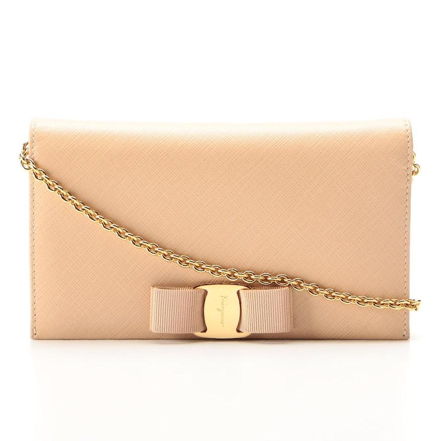 Salvatore Ferragamo Miss Vara Wallet on Chain in Saffiano Leather