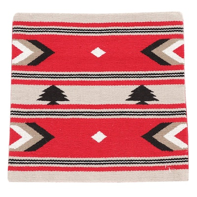 Handwoven Turkish Kilim Face Accent Pillow Cover
