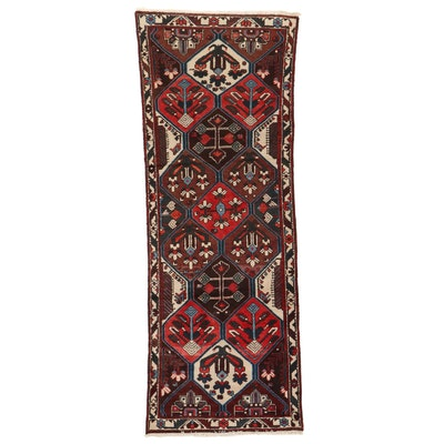 3'6 x 9'4 Hand-Knotted Persian Bakhtiari Long Rug