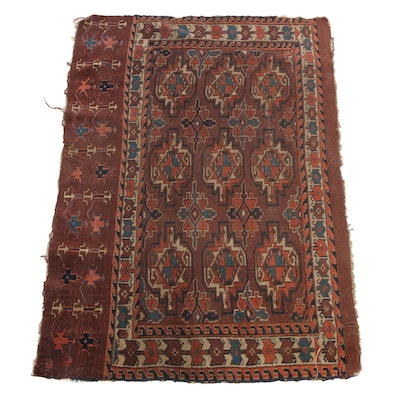 2'5 x 3'5 Hand-Knotted Turkmen Yomut Joval Remnant