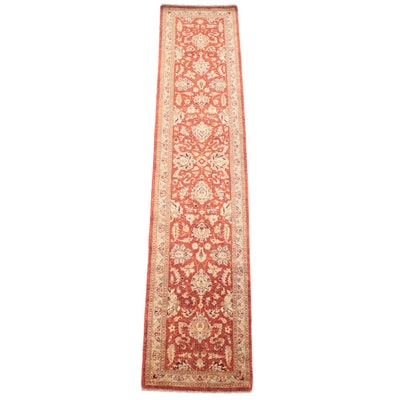 2'7 x 12'1 Hand-Knotted Pakistani Agra Carpet Runner