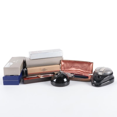 Sheaffer, Cross, Parker, and Waterman Pens and Pencils with Esterbrook Inkwells