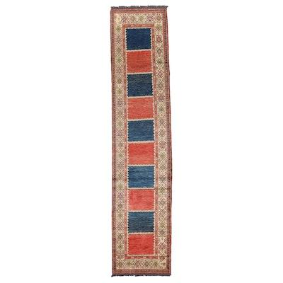2'8 x 12'6 Hand-Knotted Pakistani Kazak Carpet Runner