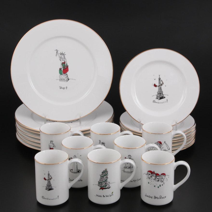 "Dayton Hudson ""Merry Masterpieces"" Porcelain Dinnerware, 1999"