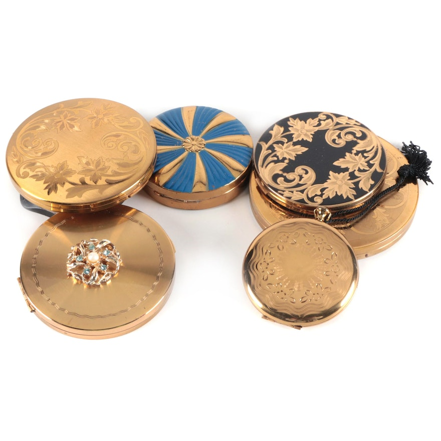 Elgin, Zell Fifth Avenue, and Other Make-Up Compacts, Mid-20th Century