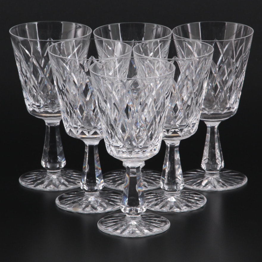 """Waterford """"Kinsale"""" Crystal Water Goblets"""