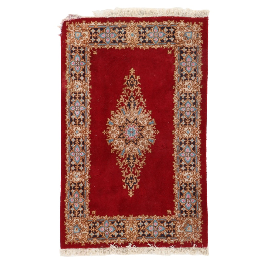 3'10 x 6'4 Hand-Knotted Wool Medallion Area Rug