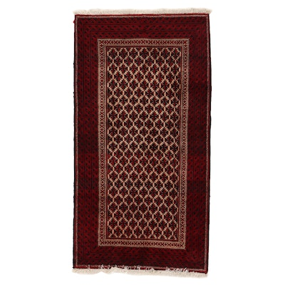 3'5 x 6'7 Hand-Knotted Afghan Baluch Area Rug