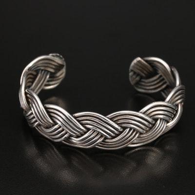Sterling Braided Wire Cuff