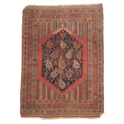 4' x 5'6 Hand-Knotted Persian Borujerd Area Rug