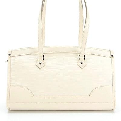 Louis Vuitton Madeleine Handbag PM in Ivorie Epi and Smooth Leather