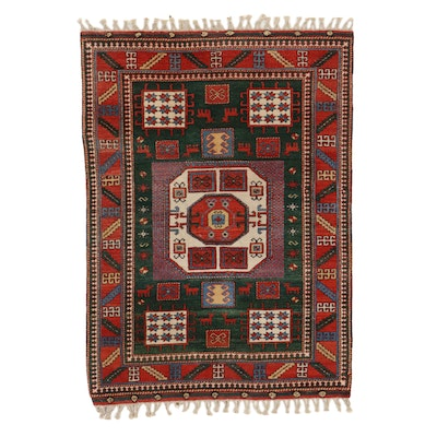 5'2 x 7'5 Hand-Knotted Wool Geometric Area Rug