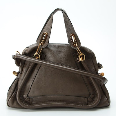 Chloé Paraty Grained Leather Two-Way Bag