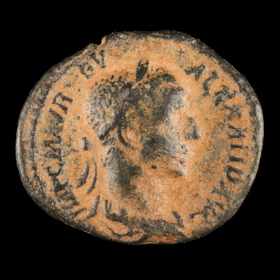Ancient Roman Imperial AE3 Coin of Severus Alexander, ca. 235 AD
