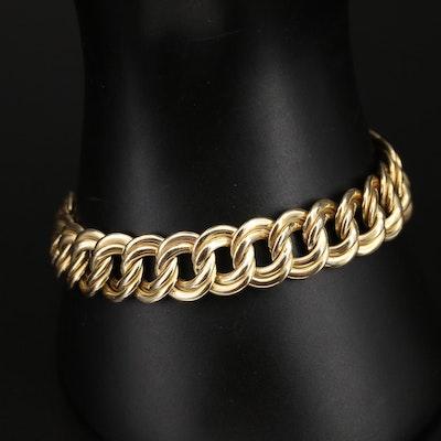 14K Double Curb Bracelet