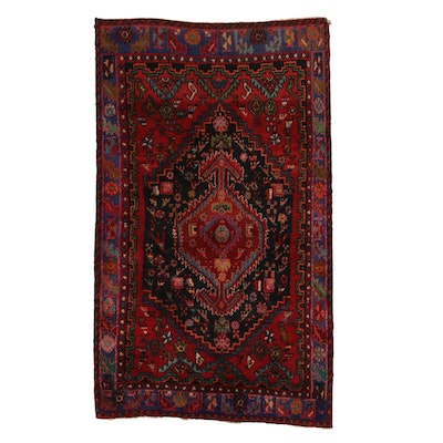 4'3 x 7'4 Hand-Knotted Wool Geomettric Medallion Are Rug