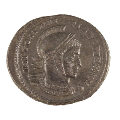 """Ancient Roman AE Follis Coin of Constantine I, """"The Great"""", ca. 337 AD"""