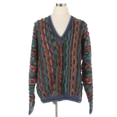 Coogi of Australia V-Neck Sweater in Mercerised Cotton
