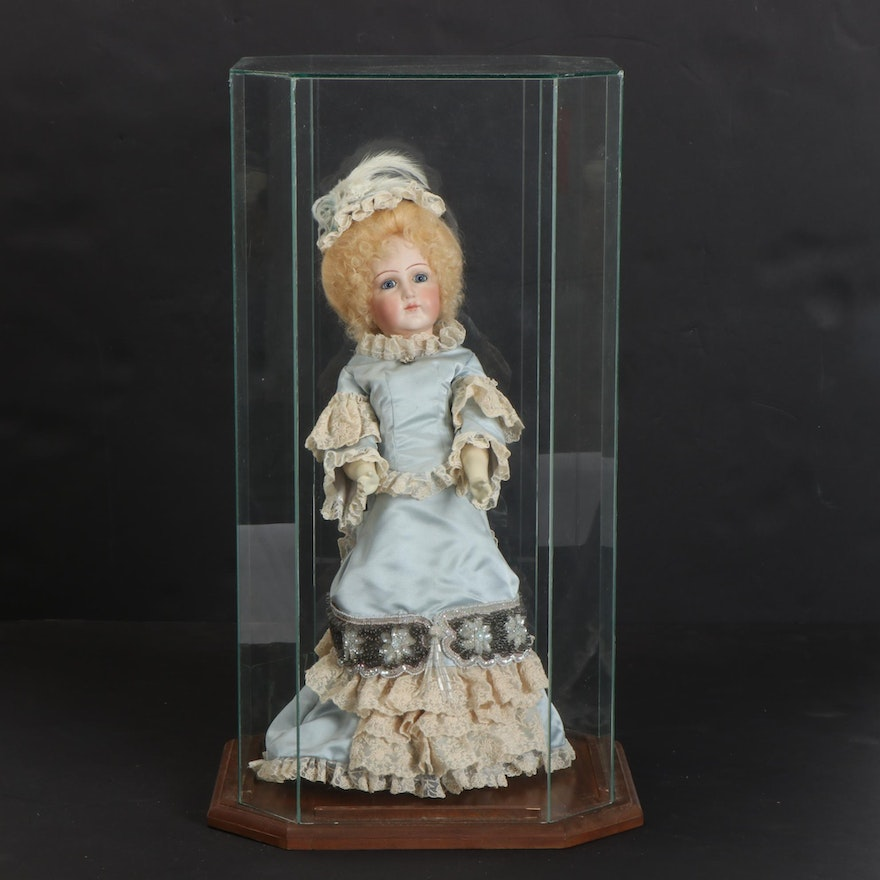 Ariane Porcelain Doll In Glass Case