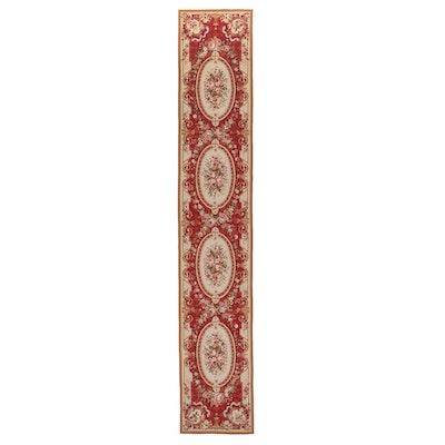 2'5 x 13'9 Handmade French Style Needlepoint Carpet Runner