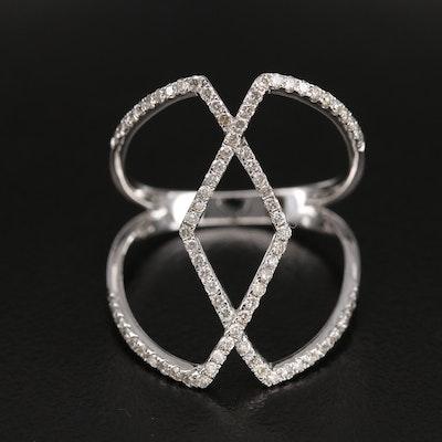 14K 0.50 CTW Diamond Openwork Ring