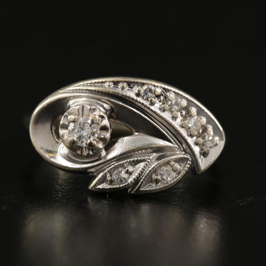 1950s 14K 0.17 CTW Diamond Ring