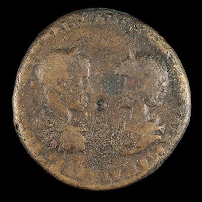 Ancient Moesia, Marcianopolis AE25 Coin of Severus Alexander, ca. 222 AD