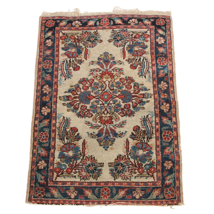 1'11 x 2'10 Hand-Knotted Persian Kurdish Accent Rug
