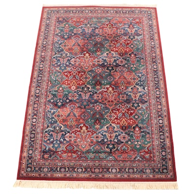7'7 x 11'7 Machine Made Floral Area Rug