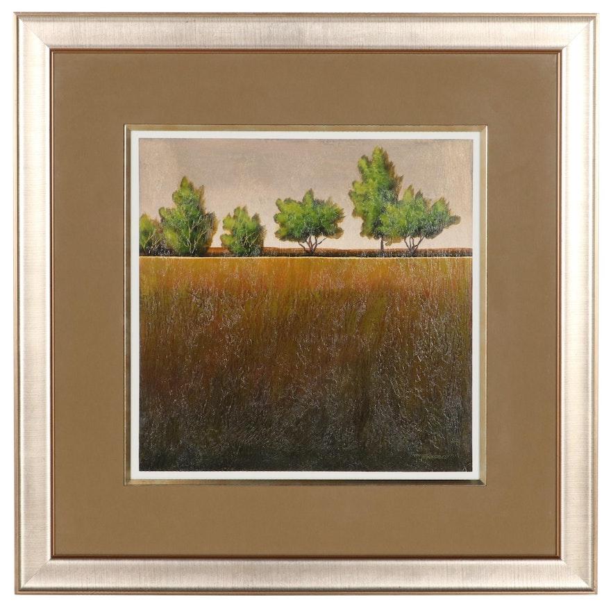 Hongyuan Xu Landscape Acrylic Painting, Circa 2000