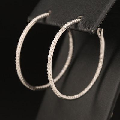 14K 1.05 CTW Diamond Inside-Out Hoop Earrings