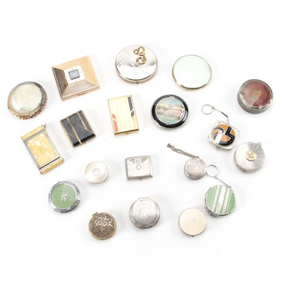 Amere, Bliss Bros. Co., and Other Makeup Compacts, Early/Mid 20th Century