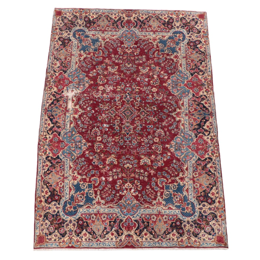 6'6 x 9'8 Hand-Knotted Persian Feraghan Area Rug