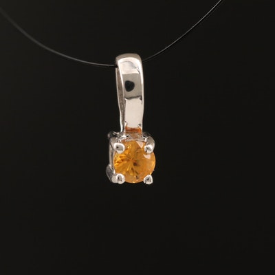 Sterling Sapphire Pendant Necklace