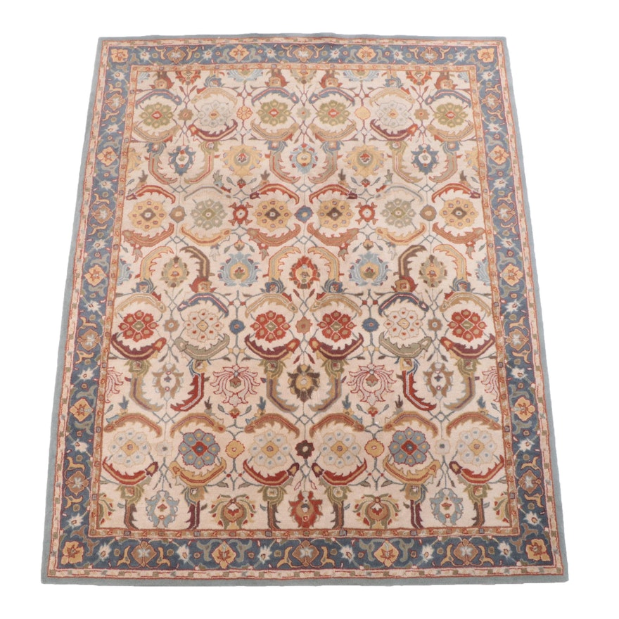 """7'11 x 10' Hand-Tufted Indian """"Eva Persian"""" Area Rug from Pottery Barn"""