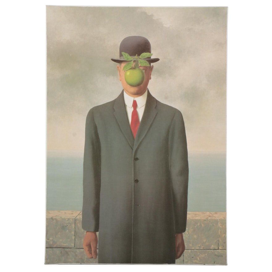 """Offset Lithograph After René Magritte """"The Son of Man,"""" 21st Century"""